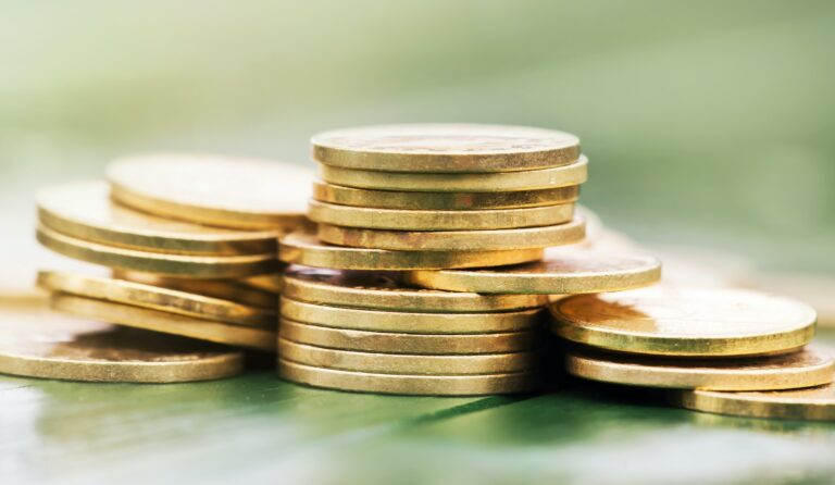 Save money - gold coins
